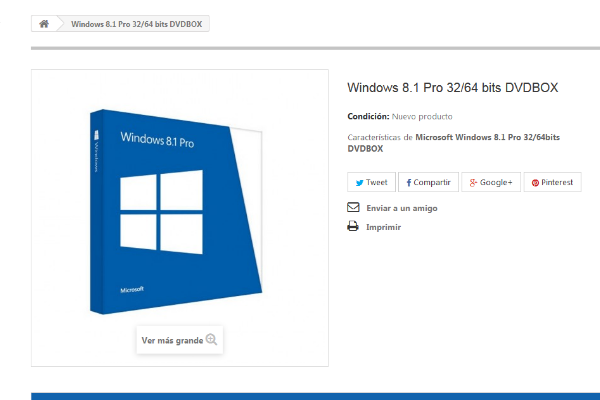 comprar windows 8.1 pro 64 bits